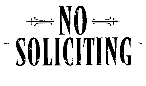 For Posting - No Soliciting