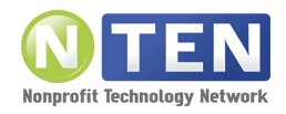 Member of NTen - Nonprofit Technology Network